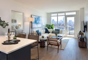 Modern Living Room at North+Vine, Chicago, IL, 60610