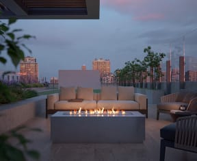 Outdoor Firepit Patio at North+Vine, Chicago