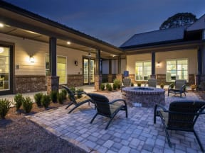 Outdoor Courtyards with Fire Pit at One White Oak, Cumming, Georgia