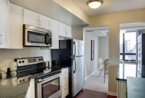 Galtier Towers Apartments in Lowertown, St. Paul, MN Kitchen