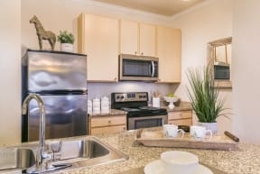 New Counter Tops and Cabinets at Aventura at Forest Park, St. Louis