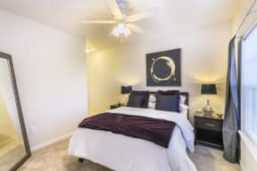 Master Bedroom with Lighted Ceiling Fan at Aventura at Forest Park, Missouri, 63110