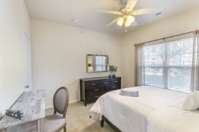Bedrooms with Linen Storage Space and Mirrors at Aventura at Forest Park, St. Louis,Missouri