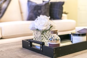 Living Room Coffee Table at Aventura at Forest Park, St. Louis,Missouri