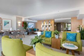 Clubroom with lounge area