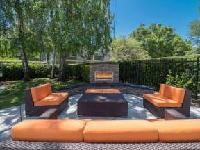 Poolside Fireplace Lounge