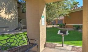 Picnic and BBQ Area at The Colony Apartments, Casa Grande, Arizona