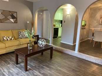 Livingroom at Wellington Estates Apartments in San Antonio TX 4-2020