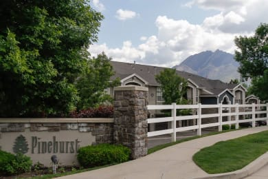 Elegant Entry Signage at Pinehurst Apartments, Midvale, UT