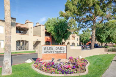 Welcoming Property Signage at Glen Oaks Apartments, Glendale, 85301