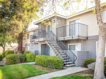 Greenspace Walking Trails at Courtyard at Central Park Apartments, Fresno, 93722