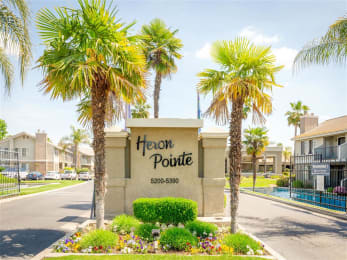 Welcoming Property Signage at Heron Pointe Apartments & Townhomes, Fresno, CA, 93711