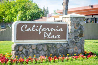 Welcoming Property Signage at California Place Apartments, California