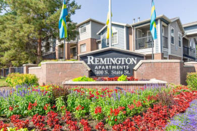 Decorated Property Signage at RemingtonApartments, Midvale, UT