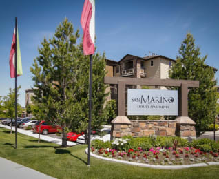 Property Sign at San Marino Apartments, South Jordan, Utah