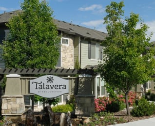 Welcoming Property Signage at Talavera at the Junction Apartments & Townhomes, Midvale, Utah