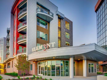 Leasing Office Entrance at Element 31 Apartments, Salt Lake City, Utah