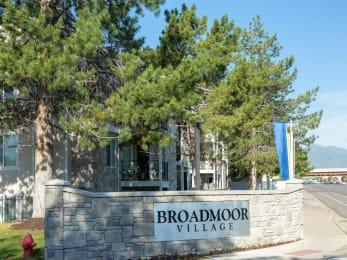 Welcoming Property Signage at Broadmoor Village Apartments, West Jordan