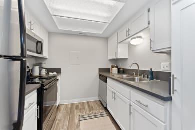 white kitchen at Morning View Terrace Apartment Homes, Escondido California, 92026