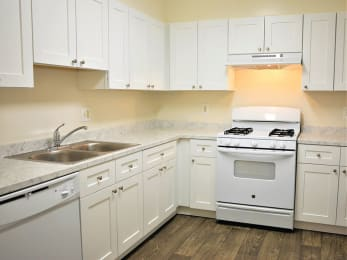 Kitchen space at Parklane Apartments in Gaithersburg, MD