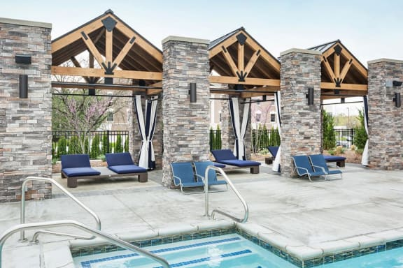 Resort-style Pool Area at The Gentry at Hurstbourne, Louisville