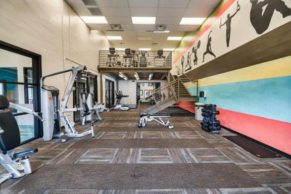 Fully-Equipped Modern Fitness Center at at Heritage Pointe Apartments in Gilbert, AZ