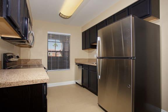 Renovated Kitchen at Sky Court Harbors at The Lakes Apartments, Las Vegas
