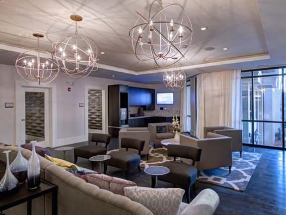 Resident Lounge at LaVie Southpark, Charlotte, NC, 28209