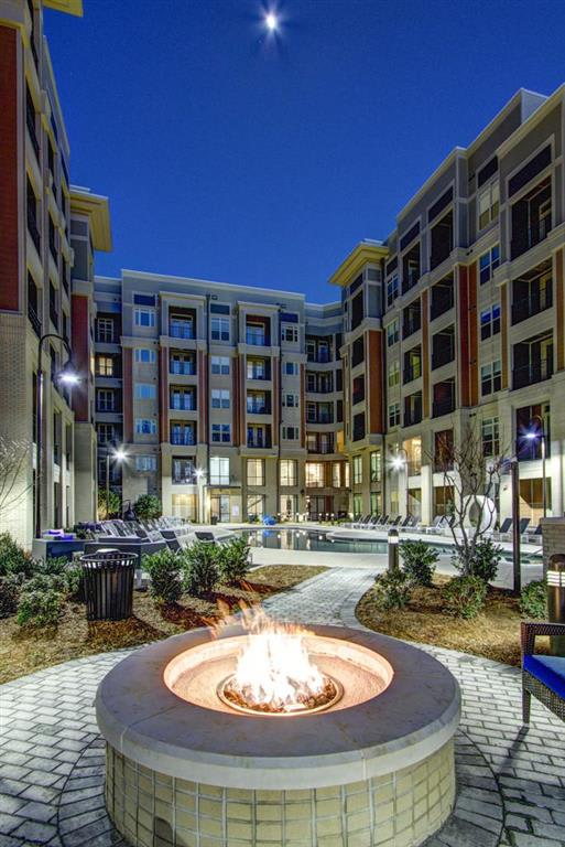 Courtyard Fire Place  at LaVie Southpark, Charlotte, 28209