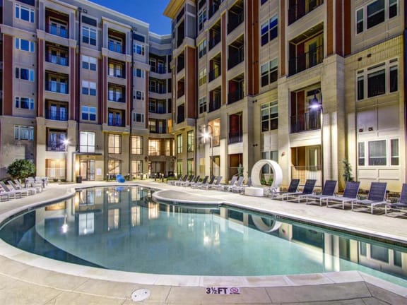 Resort Inspired Pool with Sundeck at LaVie Southpark, Charlotte, NC
