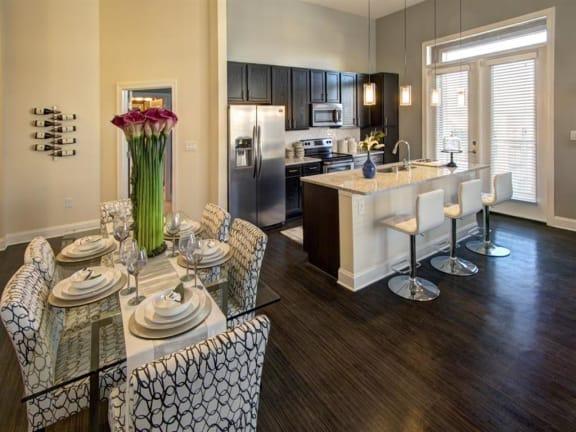 Gourmet Kitchen With Island at LaVie Southpark, North Carolina, 28209