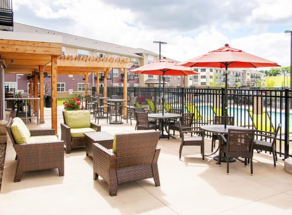 Pool Lounge Area with Pergola
