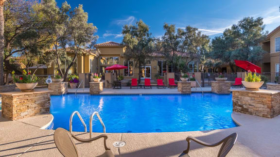 Pool & Pool Patio at Bear Canyon Apartments in Tucson, AZ