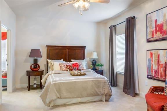 Riverstone apartment bedroom in luxury macon apartment