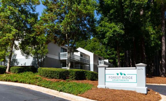 Forest Ridge Apartments entrance sign