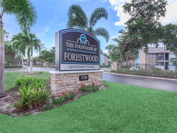 fountains at forestwood sign