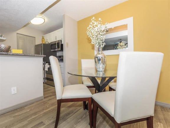 model unit cozy dining area