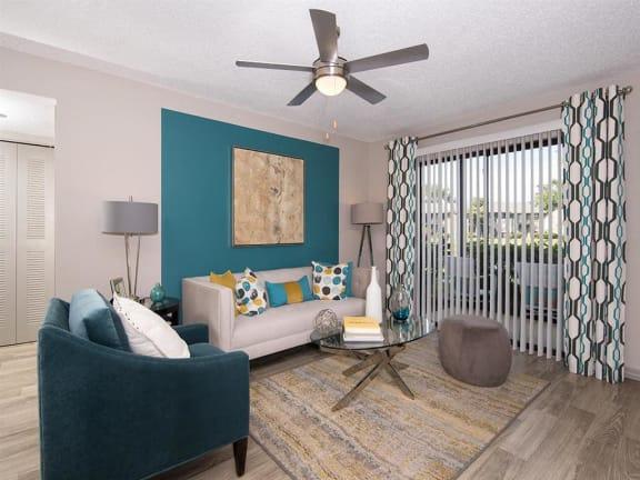 Model unit spacious living room