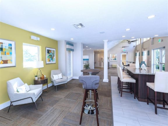 fort myers apartment community clubhouse eating area