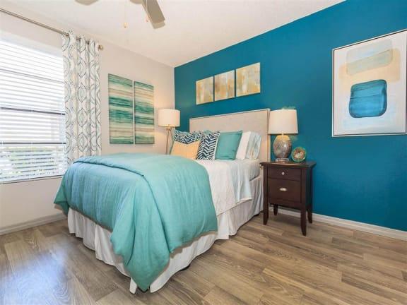 model unit spacious bedroom