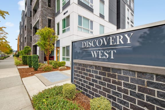 Discovery West Sign at Discovery West, Issaquah, WA
