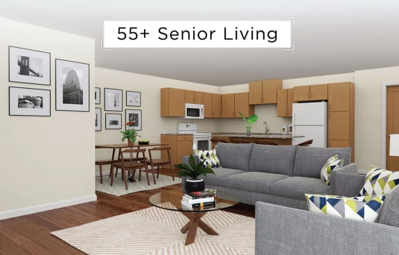 Covington Crossings_Staged Living Room