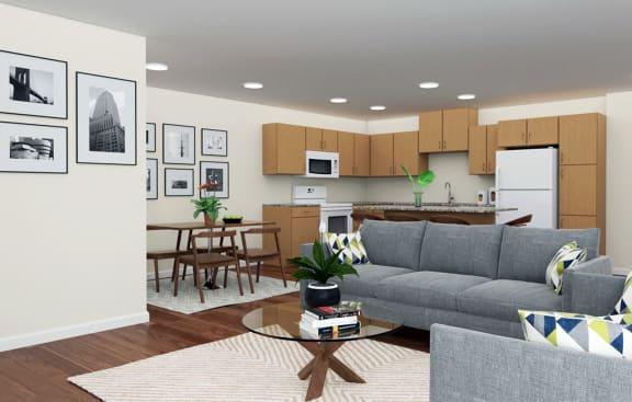 Covington Crossings_Staged Living Room