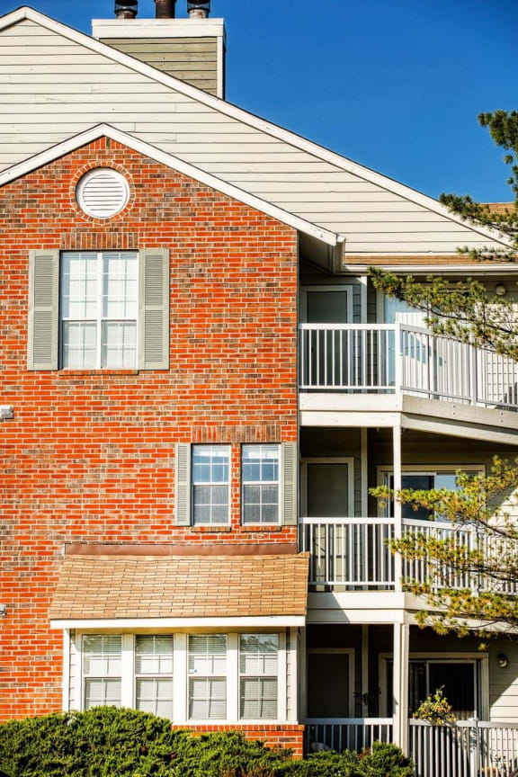 Balconies at luxury apartments in Silver Springs, MD