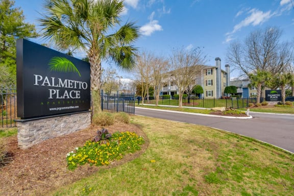 Elegant Entry Signage at Palmetto Place Apartments, Taylors, 29687