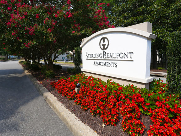 Welcoming Property Signage at Sterling Beaufont Apartments, Richmond, VA