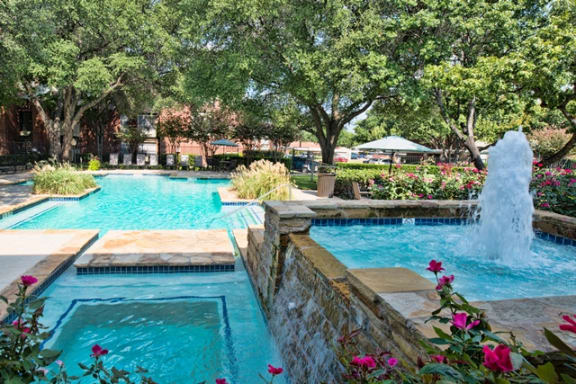 Landscaped Pool at Indian Creek Apartments