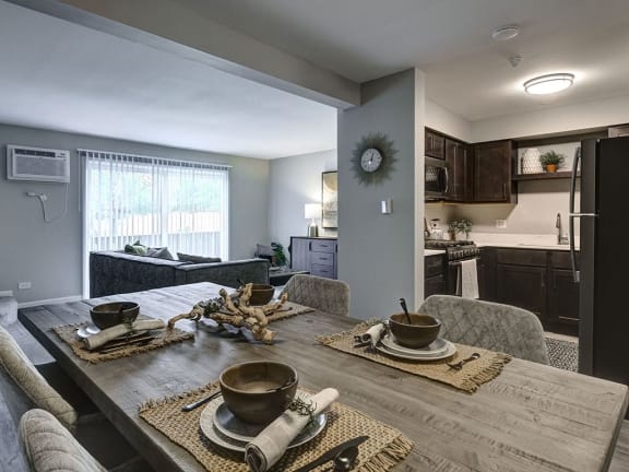 Spacious Dinning area with Natural Light at Westmont Village, Westmont, IL