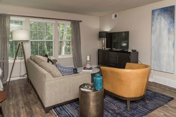 Warm Neutral Interiors and White Trim at Fairlane Woods Apartments, Dearborn, Michigan