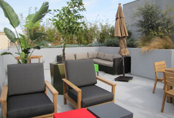Mayfair Residences courtyard with outdoor furniture